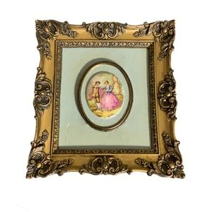 B & S Creations Vintage Framed Wall Hangings (2)